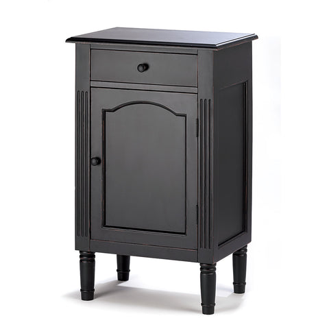 Accent Plus Antiqued Black Wood Cabinet - 39092