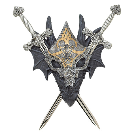 Dragon Crest Armored Dragon Wall Crest - 39269
