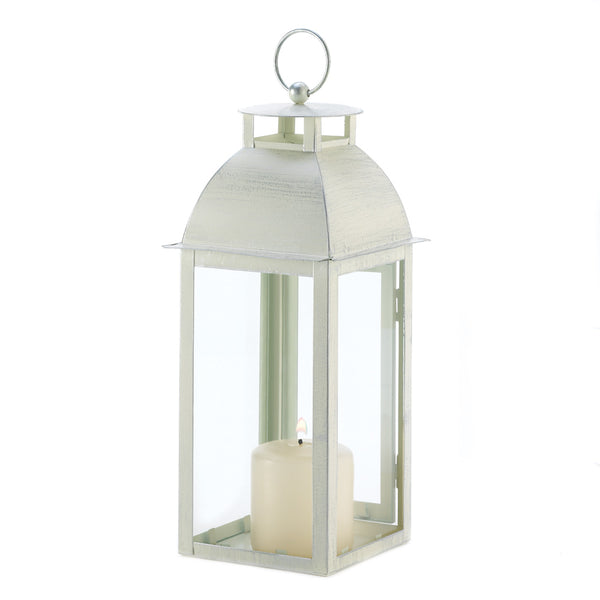 Gallery of Light Distressed Ivory Candle Lantern - D1047