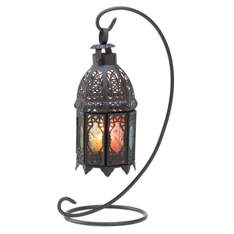 Gallery of Light Rainbow Moroccan Lantern Stand - D1062