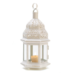 Gallery of Light White Moroccan Style Lantern - D1064
