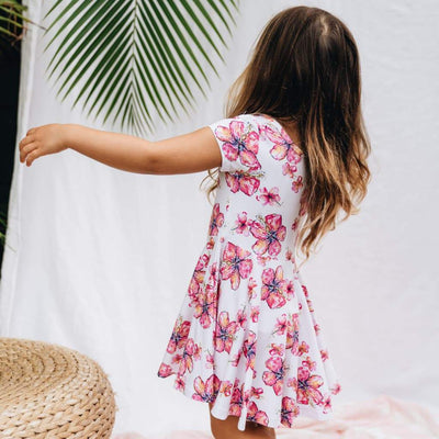 Clothing - Hibiscus Kiss Infant T-Shirt Dress + Bloomers