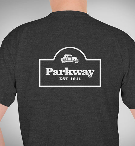 Parkway Men's (UNISEX) Restaurant Tri-Blend T-Shirt – Charcoal Black