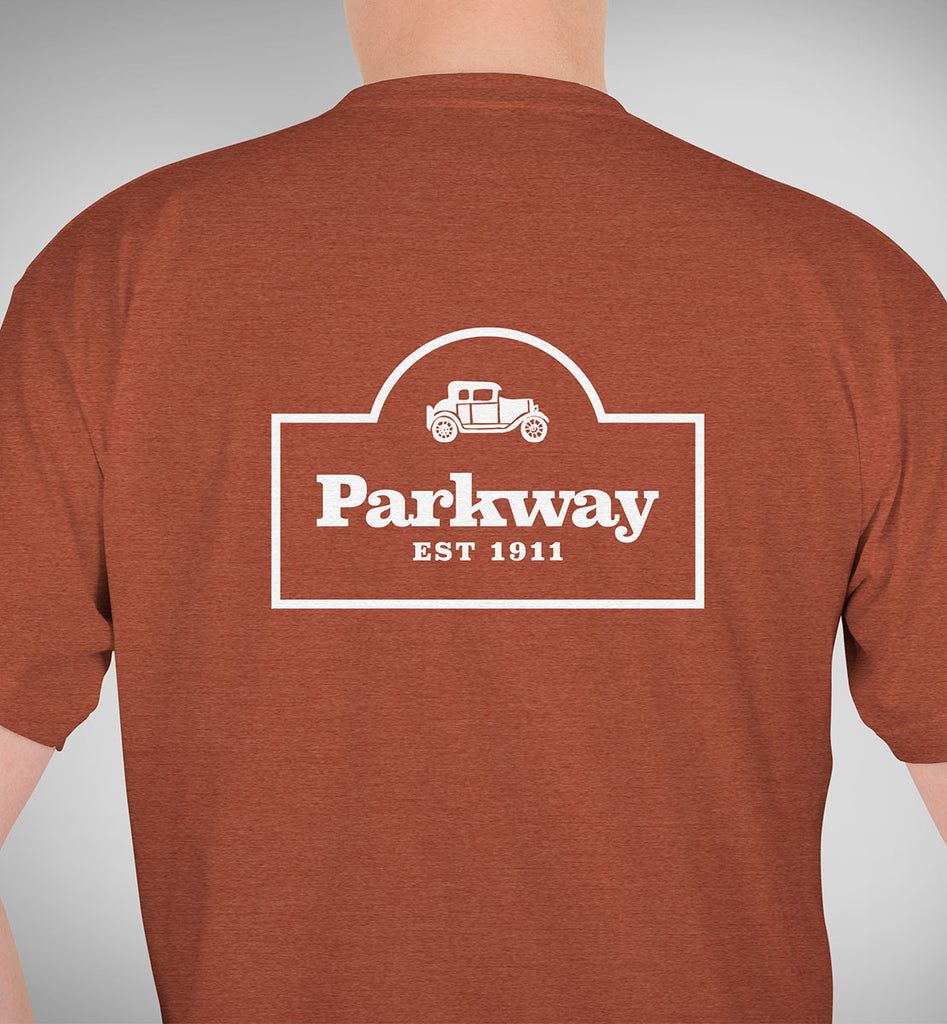 Parkway Men's Restaurant Tri-Blend T-Shirt – Clay