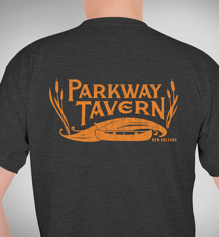 Parkway Men's Tavern Tri-Blend T-Shirt – Charcoal Black & Gold