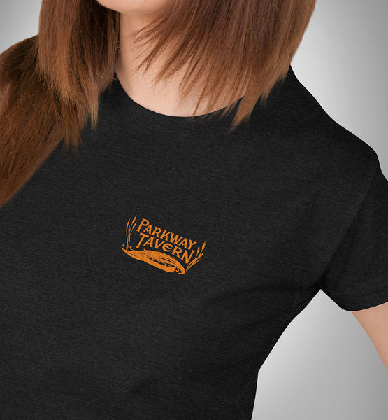 Parkway Women's Tavern Tri-Blend T-Shirt – Charcoal Black & Gold