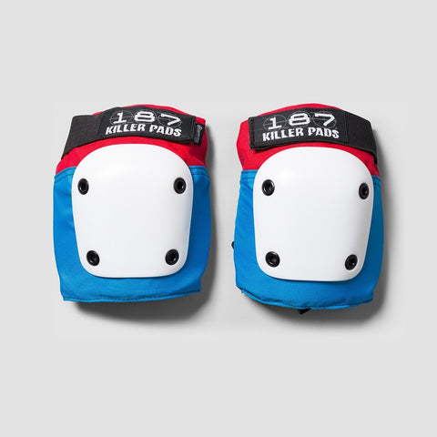 187 Killer Fly Knee Pads Red/White/Blue
