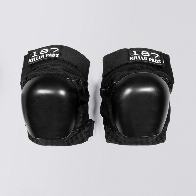 187 Pro Derby Knee Pads Black/Black - Safety Gear