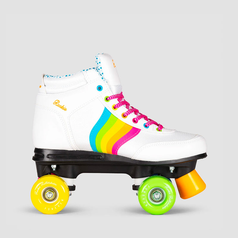 Rookie Forever Rainbow V2 Quad Skates White/Multi - Kids