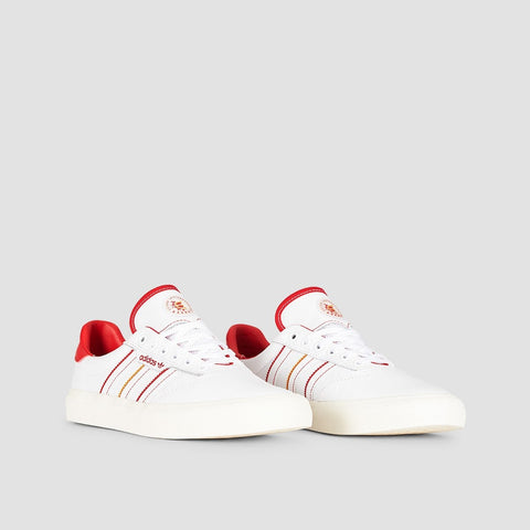 adidas 3MC X Evisen Footwear White/Scarlet/Gold Metallic - Footwear