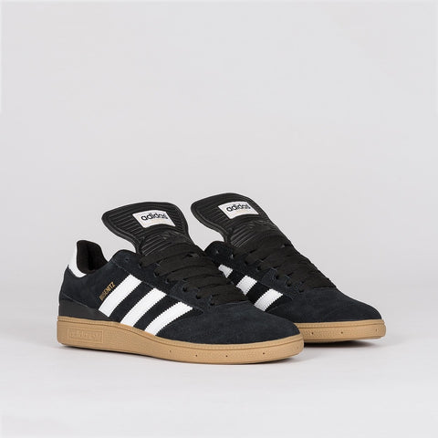 adidas Busenitz Pro Black 1/Running White Footwear/Metallic Gold - Footwear