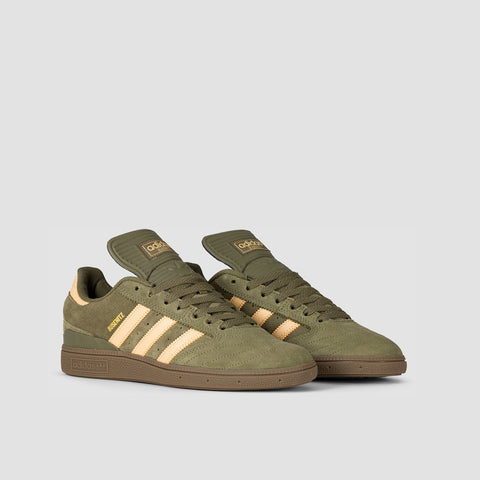 adidas Busenitz Raw Khaki/Glow Orange/Footwear White - Footwear