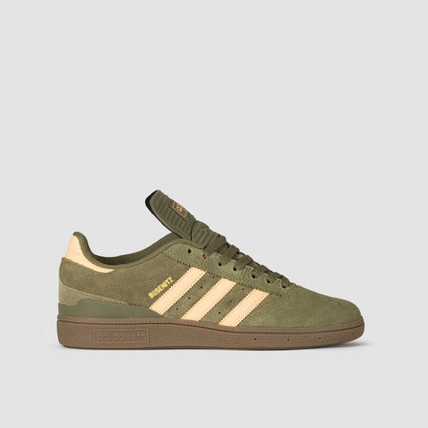 adidas Busenitz Raw Khaki/Glow Orange/Footwear White