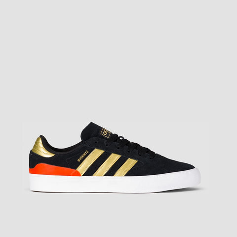 adidas Busenitz Vulc II Core Black/Gold Metallic/Solar Red