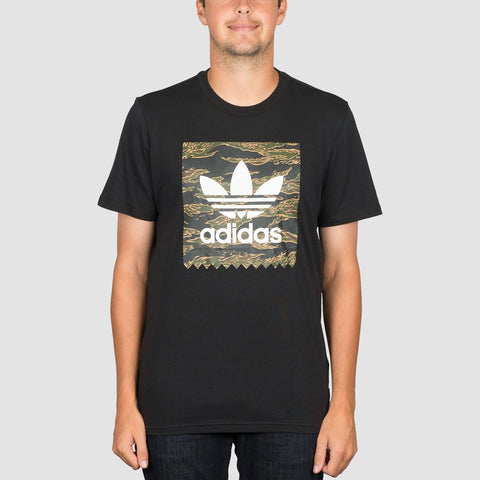 adidas Camo BB Tee Black/Camo Print/Collegiate Orange