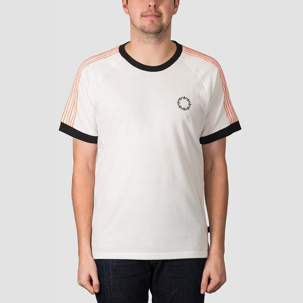 adidas Club Jersey Tee Off White/Black/Core White/Amber Tint - Unisex - Clothing