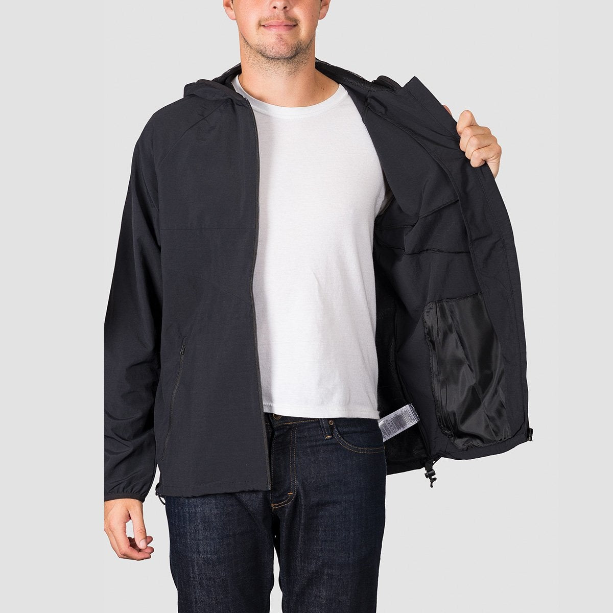 adidas Dekum Packable Wind Jacket Black/Black - Clothing