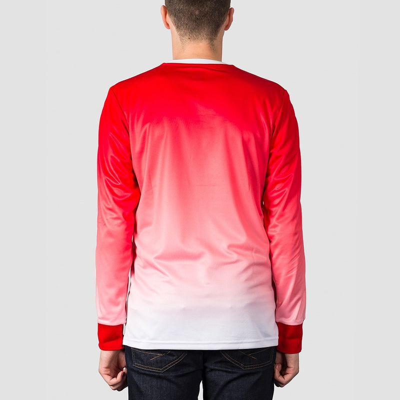 adidas Evisen Long Sleeve Jersey Scarlet/White - Clothing