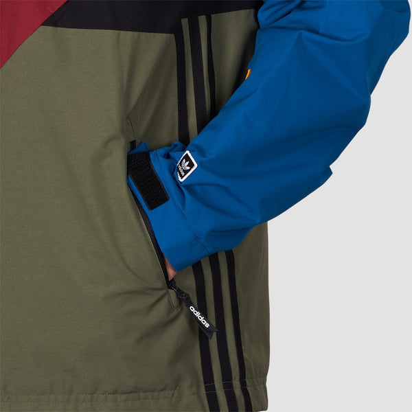 adidas Premiere Riding jacket, base green noble maroon real teal collegiate gold