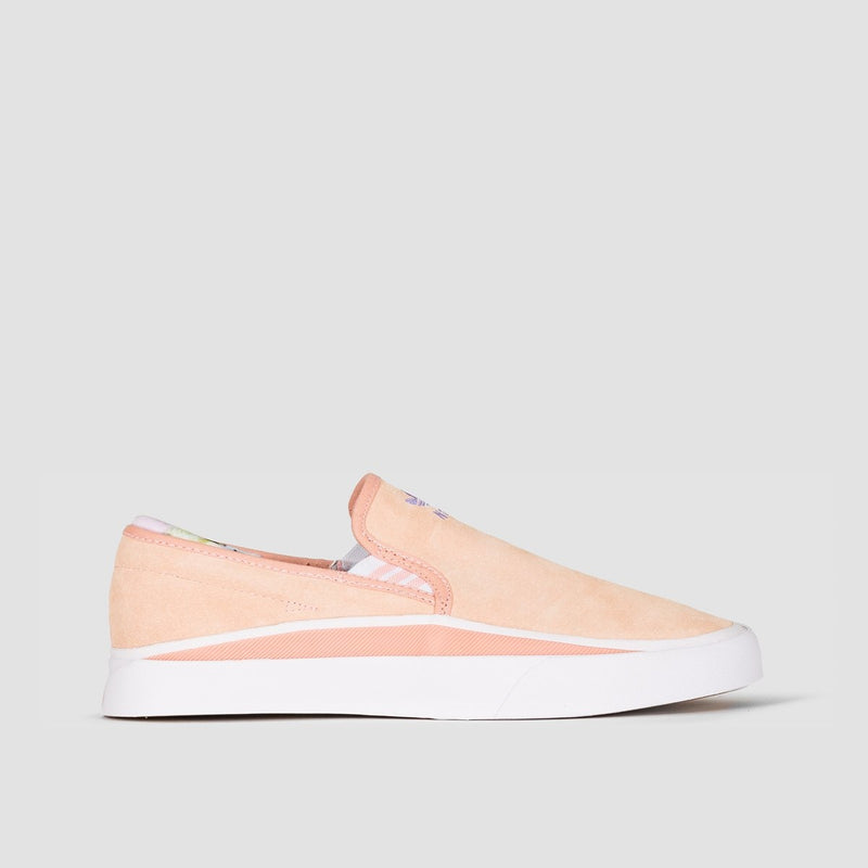 adidas Sabalo Slip On Clear Orange/Footwear White/Light Purple - Unisex S - Footwear