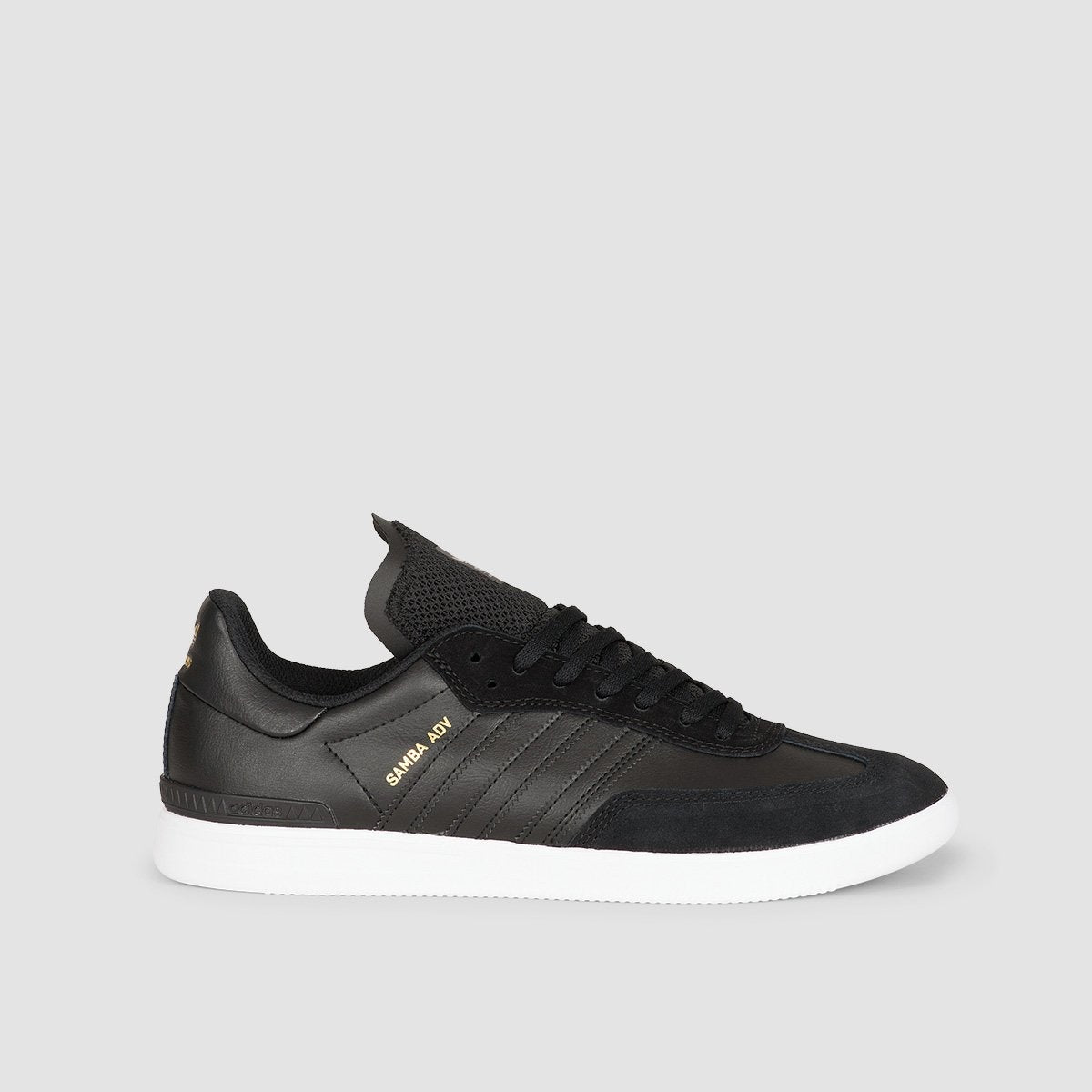 adidas Samba Adv Core Black/Footwear White/Gold Metalic - Footwear