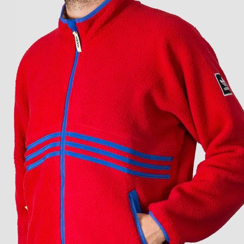 adidas Sherpa Full Zip Snow Jacket Power Red/Hi-Res Blue S18/Haze Yellow - Snowboard