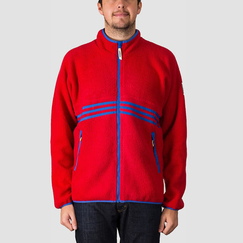 adidas Sherpa Full Zip Snow Jacket Power Red/Hi-Res Blue S18/Haze Yellow