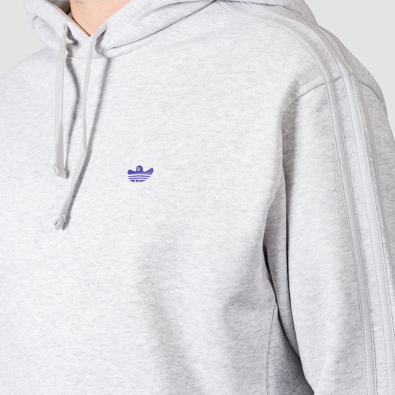 adidas Shmoo Pullover Hood Light Grey Heather/Purple - Unisex