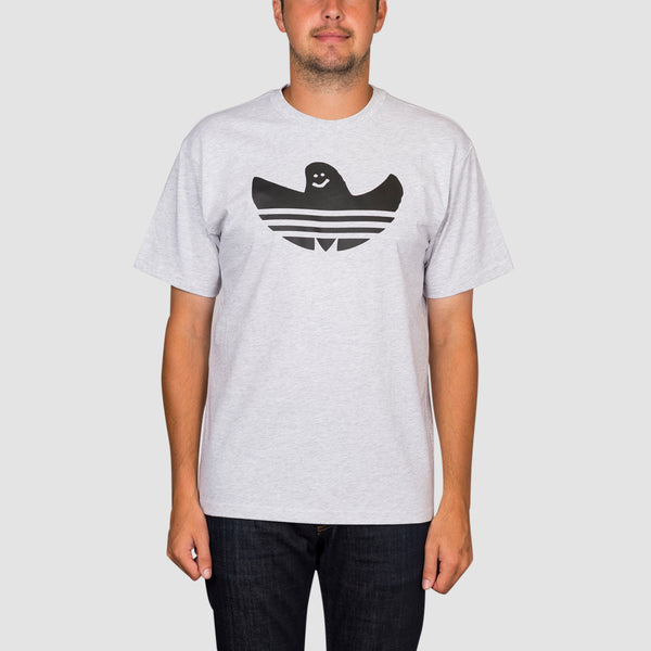 adidas Shmoofoil Logo Tee Light Grey Heather - Unisex