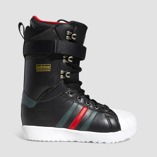 adidas Superstar Adv Snowboard Boots Core Black/Mineral Green/Scarlet