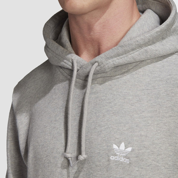 adidas Trefoil Essentials Pullover Hood Medium Grey Heather