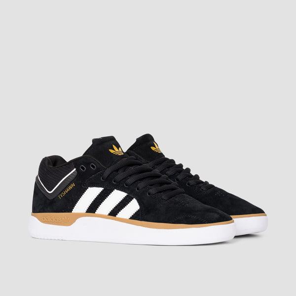 adidas Tyshawn Core Black/Footwear White/Gum4