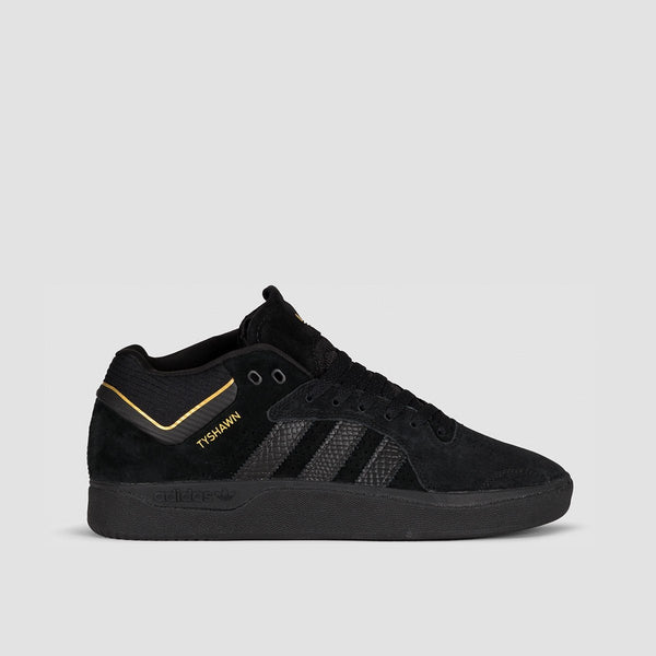 adidas Tyshawn Core Black/Core Black/Gold Metallic - Footwear