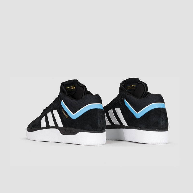 adidas Tyshawn Core Black/Footwear White/Light Blue - Footwear