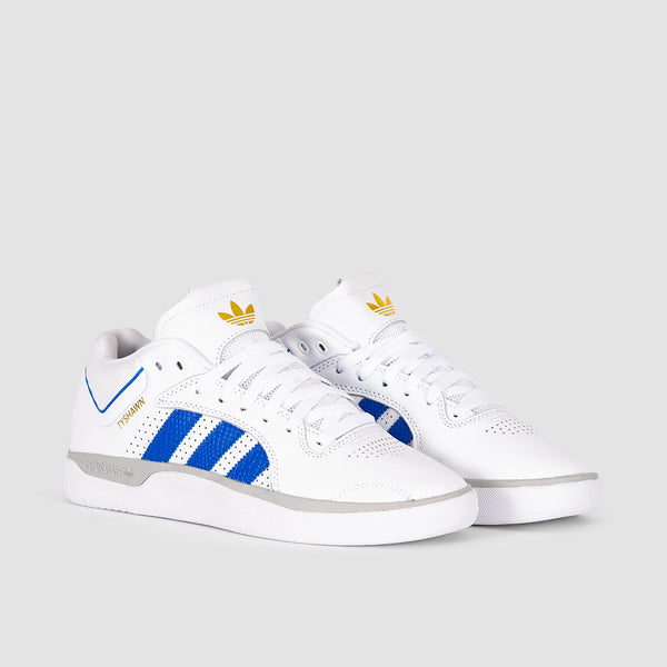 adidas Tyshawn Footwear White/Blue/Gold Metallic