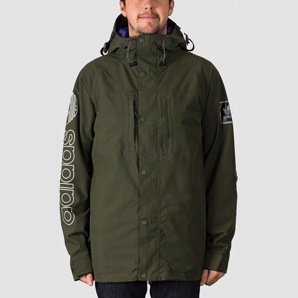 adidas Utility Snow Jacket Night Cargo/Collegiate Purple - Snowboard
