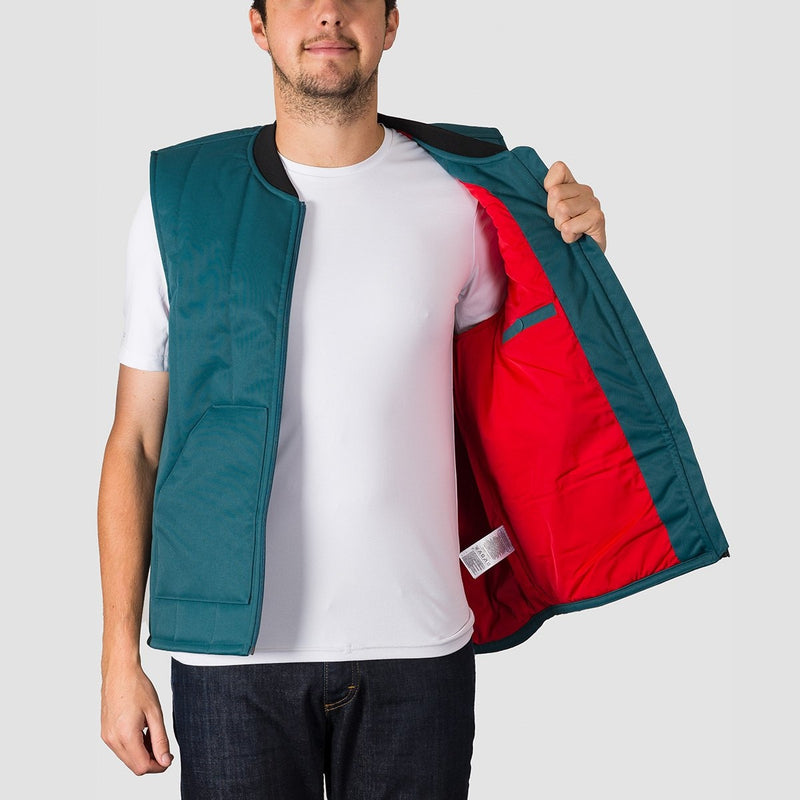 adidas Workwear Vest Snow Jacket Viridian/Power Red/Noble Indigo S18 - Snowboard