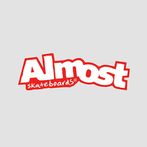 Almost Logo Sticker Red/White
