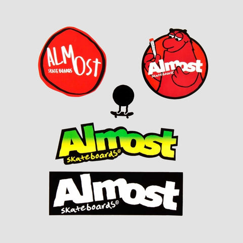 Almost Skateboarding Sticker Pack-3 Multi x5