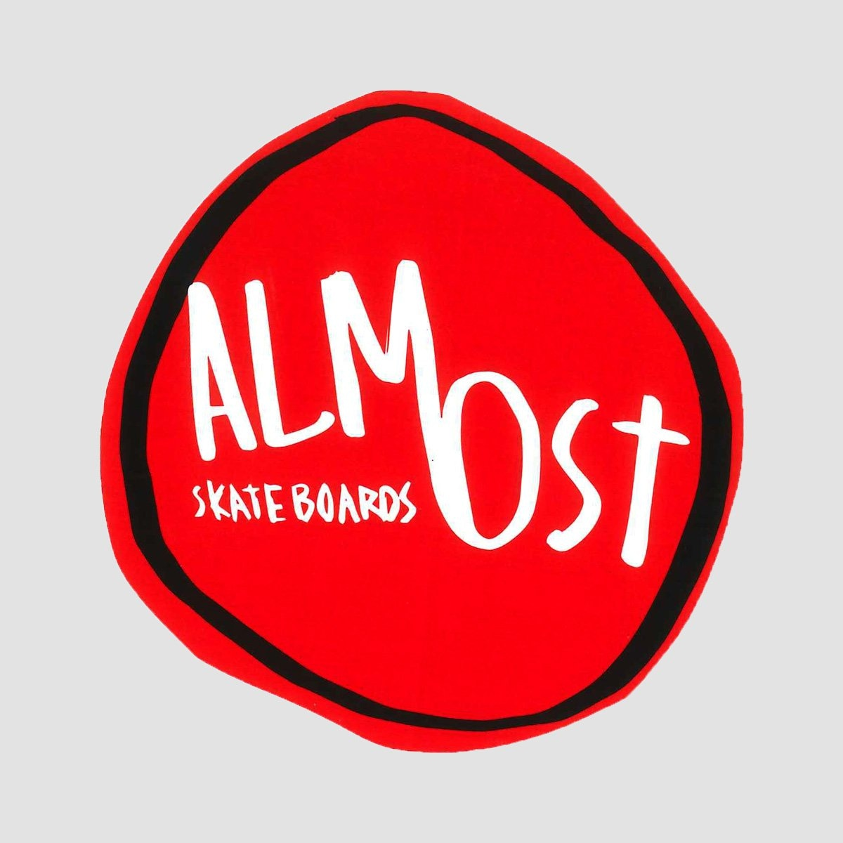 Almost Splat Logo Sticker Red - Skateboard