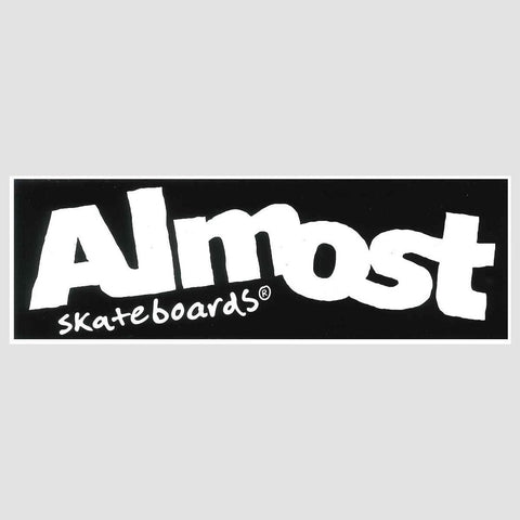 Almost Wordmark Sticker Black/White