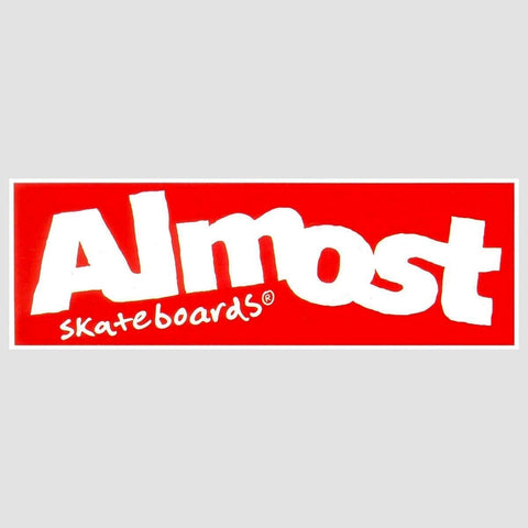 Almost Wordmark Sticker Red/White
