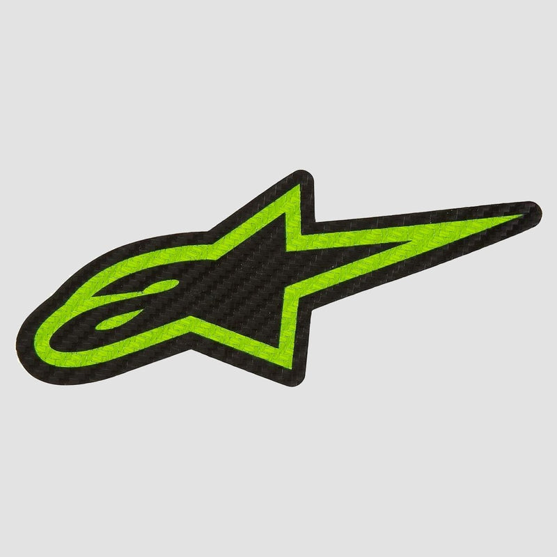 Alpinestars Carbonite Sticker Green/Black 90mm x 40mm - Skateboard