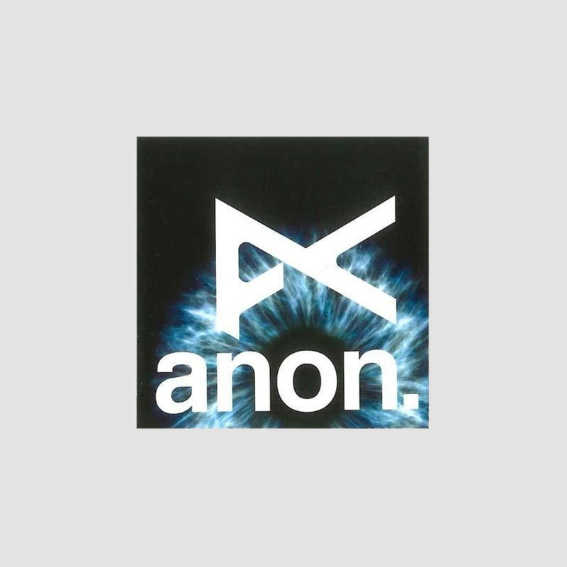Anon Logo Sticker Black/White 61mm x 61mm - Skateboard