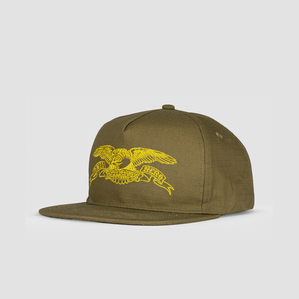Antihero Basic Eagle Snapback Cap Brown/Gold