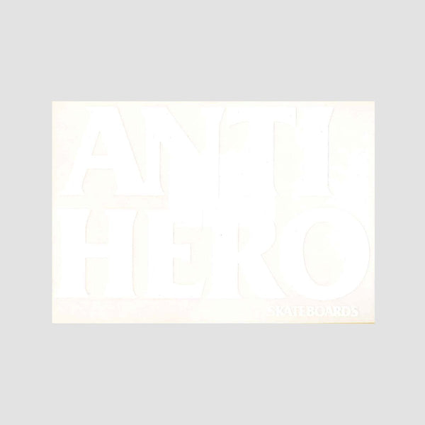 Antihero Black Hero Sticker White Solid 150mm x100mm - Skateboard