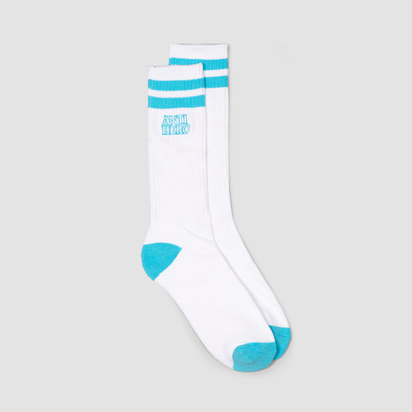 Antihero Blackhero Outline Socks White/Llight Blue