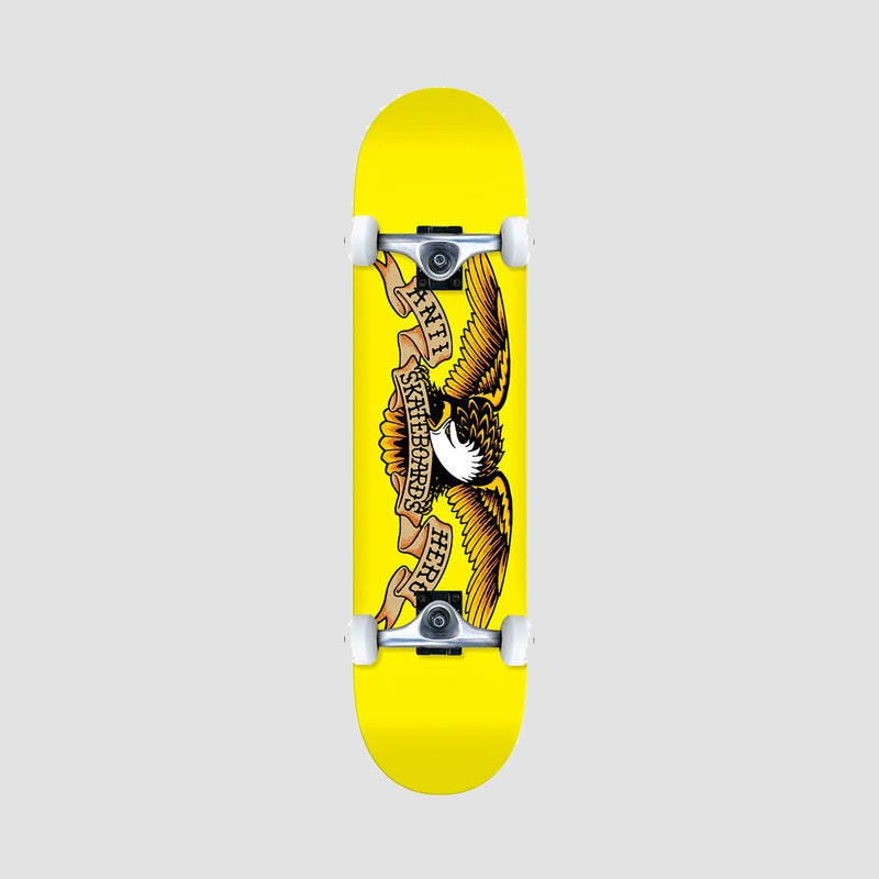 Antihero Classic Eagle Pre-Built Mini Complete Yellow - 7.3""