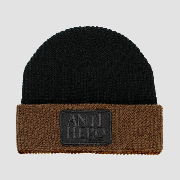 AntiHero Reserve Patch Beanie Black/Brown