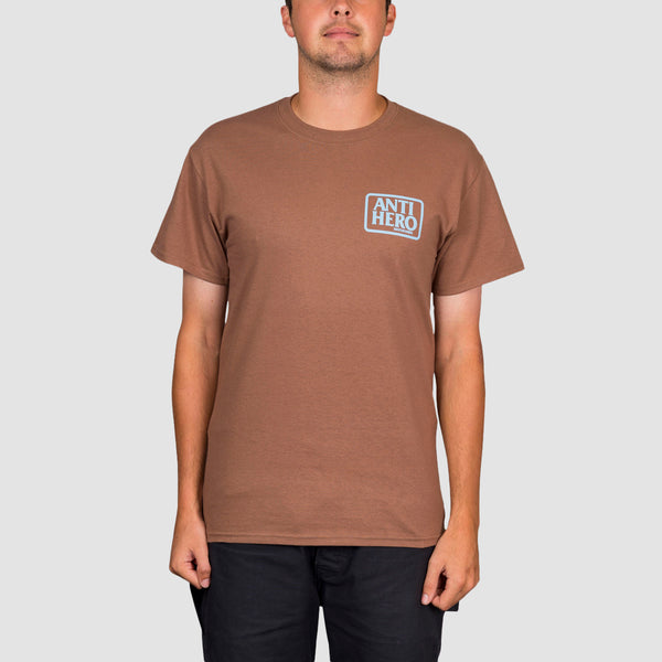 Antihero Reserve Tee Coffee/Light Blue